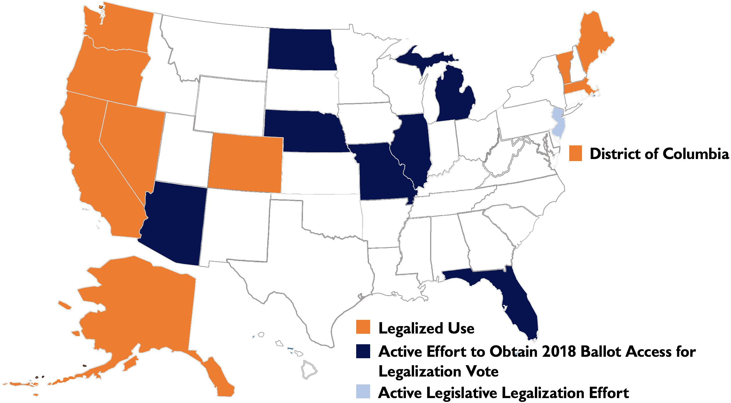 Status of Recreational Marijuana Legalization