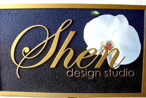 SA28006 - Elegant HDU Sign with Flower for Design Studio