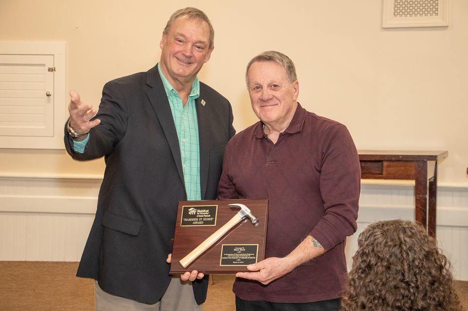 Dan Kelley accepts long overdue Hammer Award
