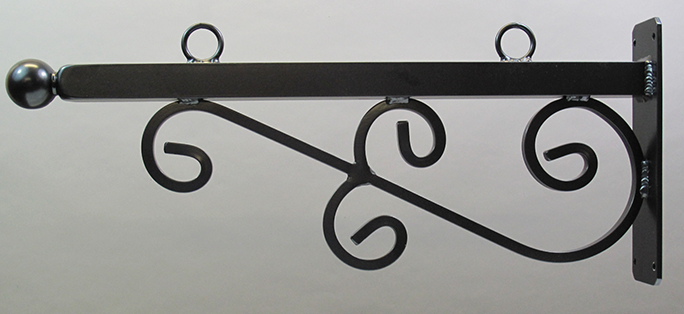 M4044 - Designer Scroll bracket Mounted in Wall
