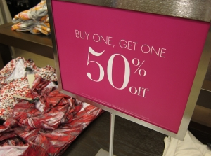 Holiday retail store sale signs Orange County