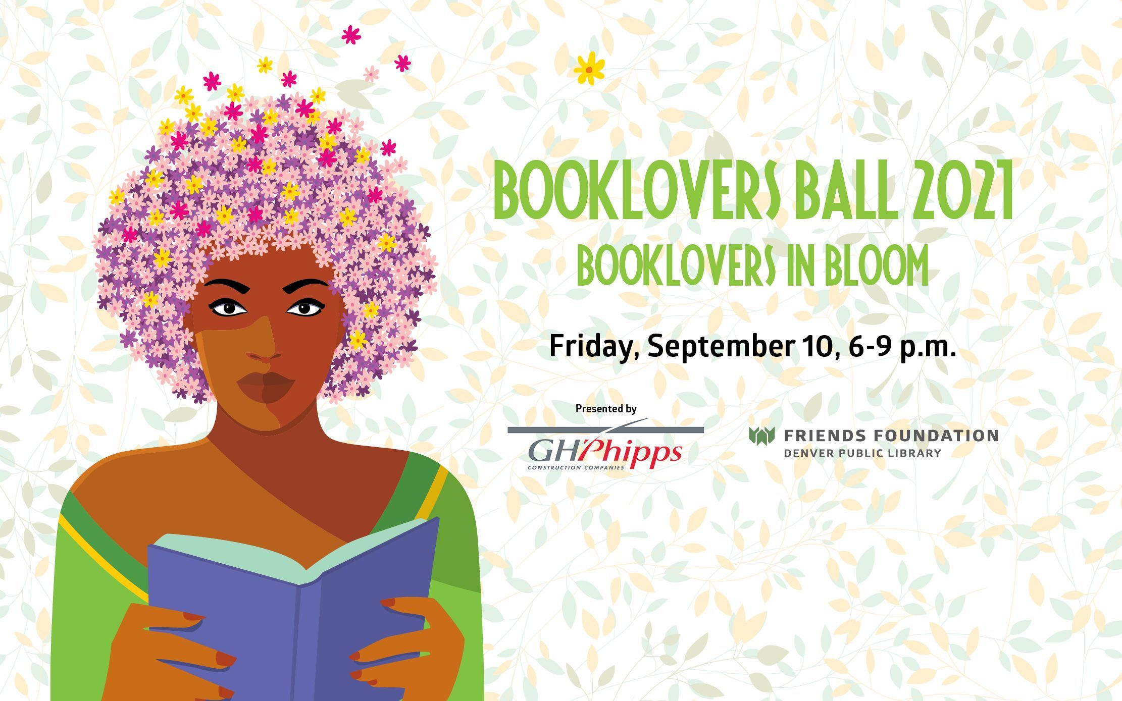 Booklovers Ball 2021, Friday, September 10, at 6:00 p.m., presented by GH Phipps.