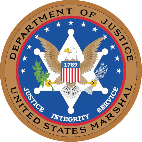 U30380 - Department of Justice US Marshall Seal Carved Wood Wall Plaque
