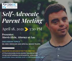 Self-Advocate Parent Meeting, Slides