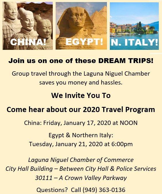 2020 Chamber Travel Night