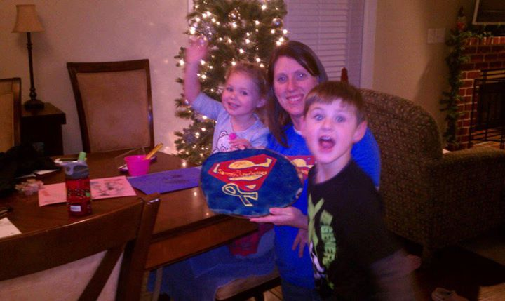 That's a Super Superhero cookie! Thanks cousins Jason & Lexi, Aunt Kim & Uncle Cory!