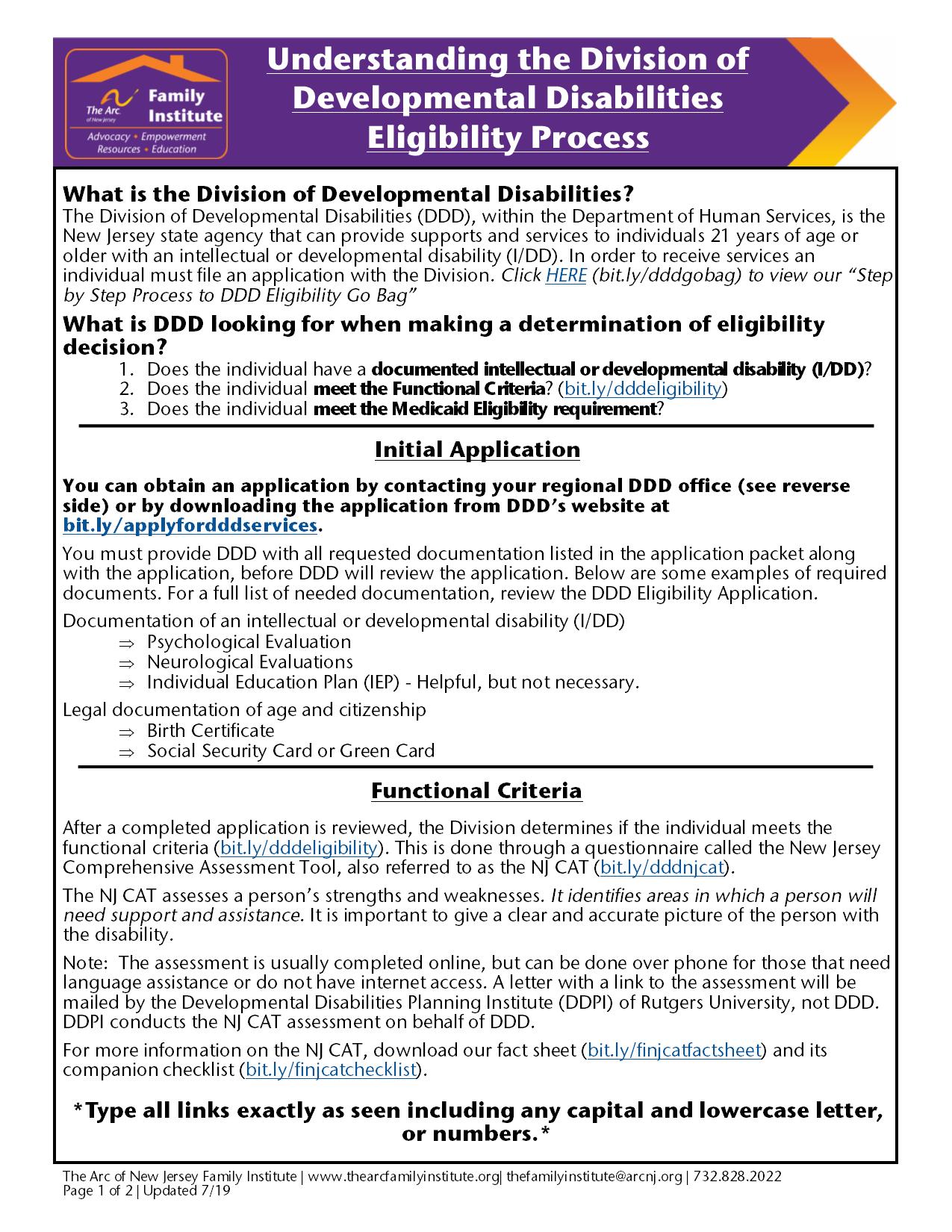 Understanding DDD's Determination of Eligibility Process - English