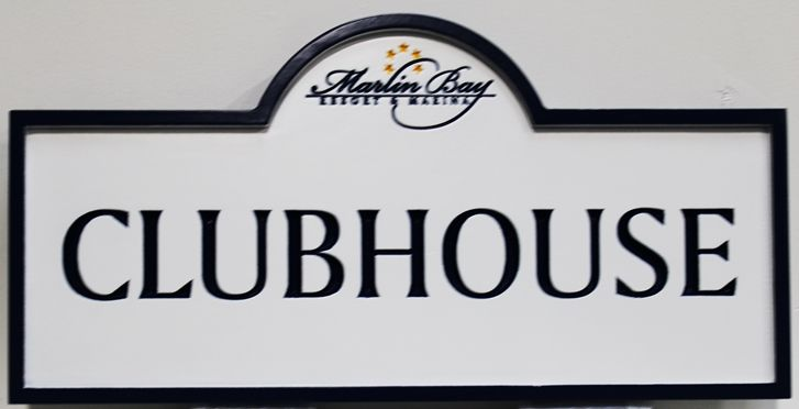 KA20612 - EngravedHDU Marlin BayClubhouse Sign, with Logo