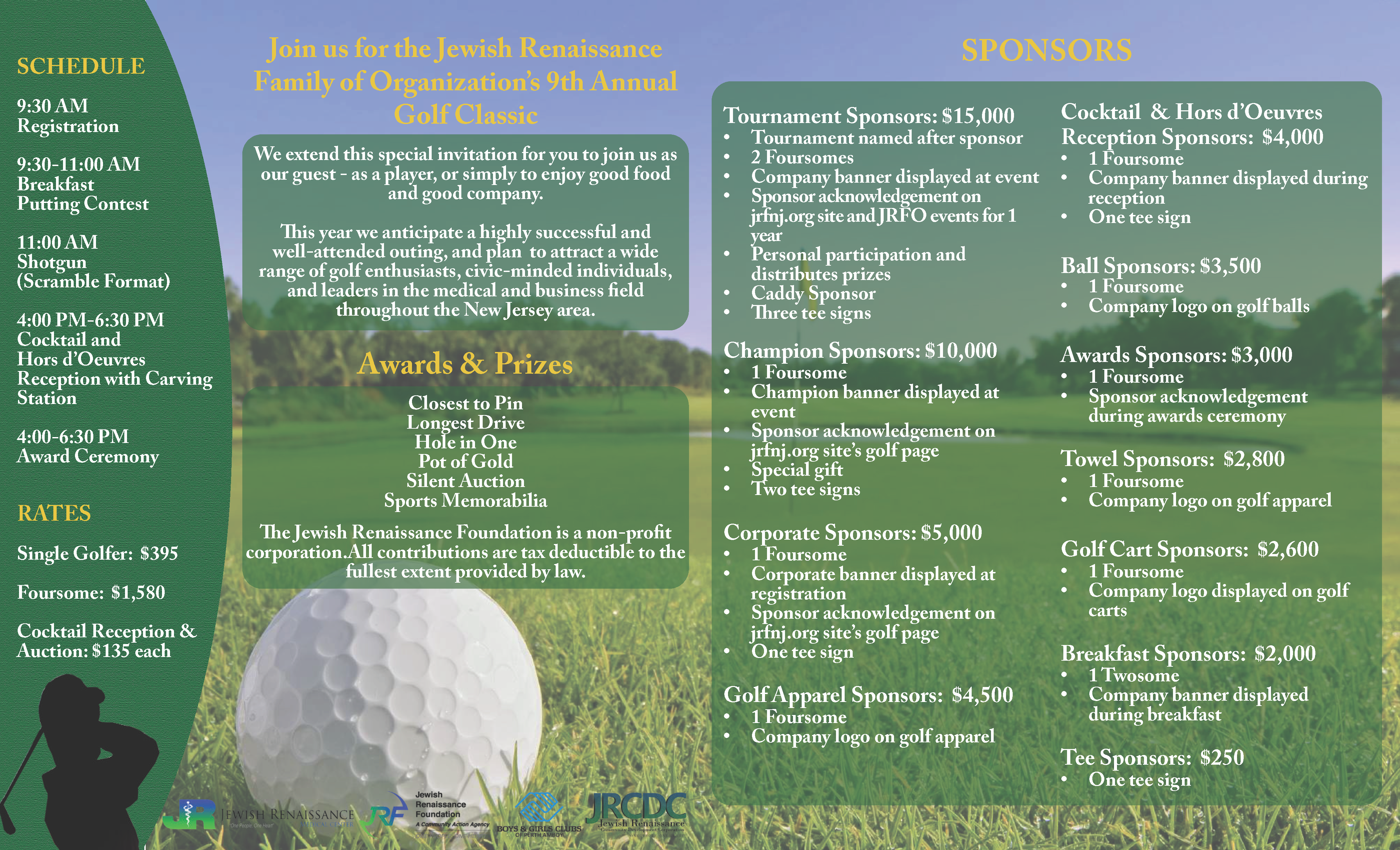 9th Annual Golf Classic sponsored by United Healthcare