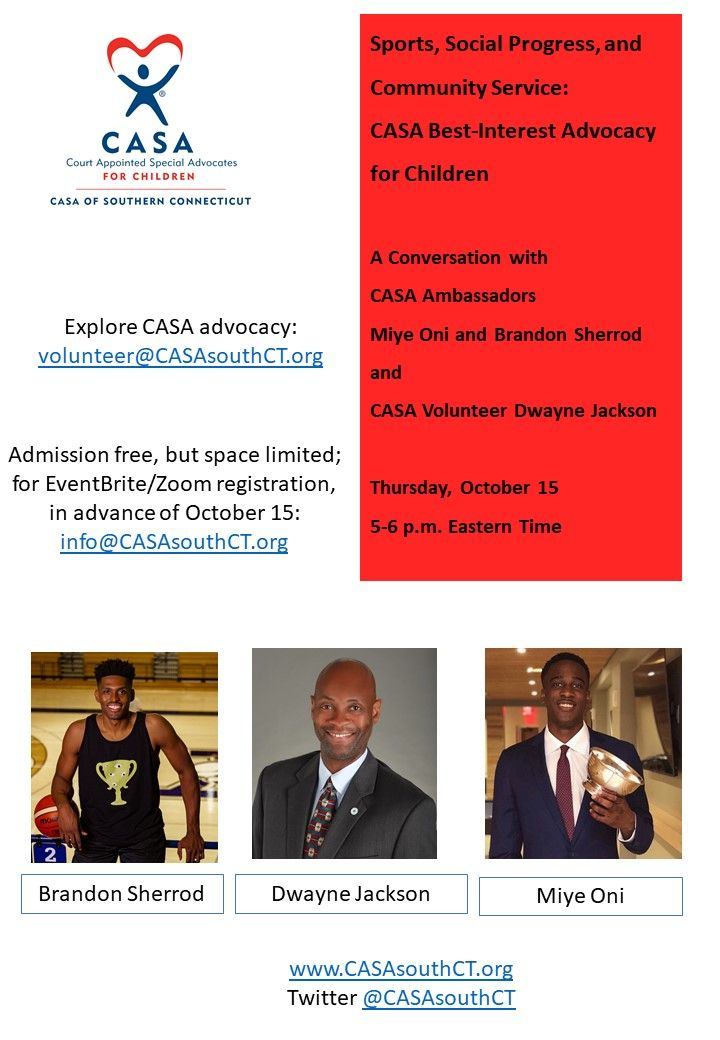Zoom Forum with Ambassadors and CASA Volunteer Dwayne Jackson