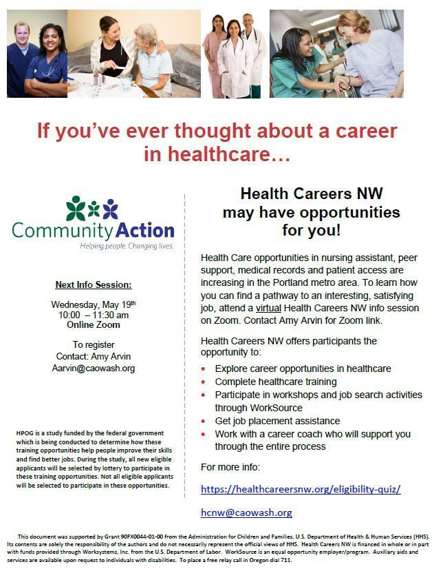 Health Career NW Info Session