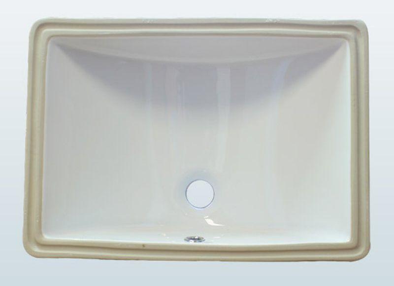 Rectangle Porcelain Vanity Sink