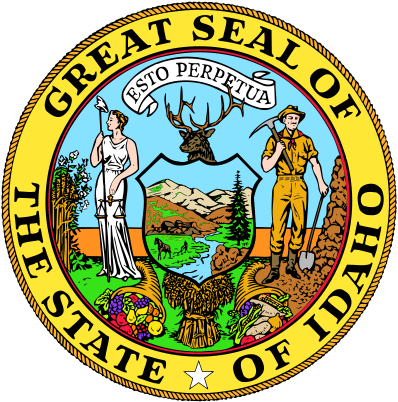 W32170 - Great Seal of Idaho Wooden Plaque