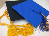 Graduation caps and tassels