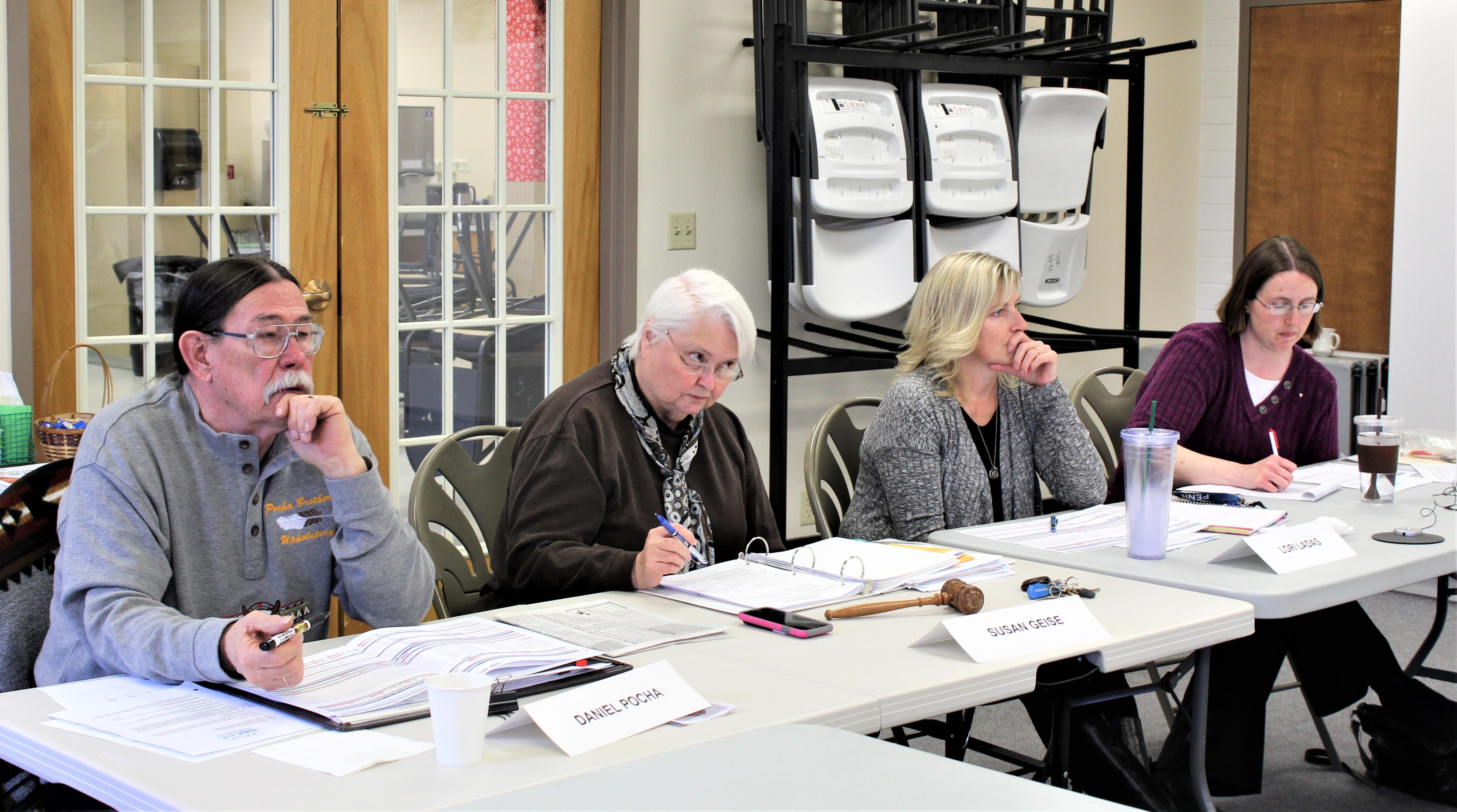 Photo of RMDC Board Meeting in progress.