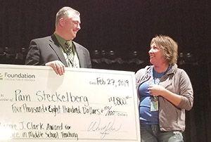 Pam Steckelberg named Florence J. Clark award winner