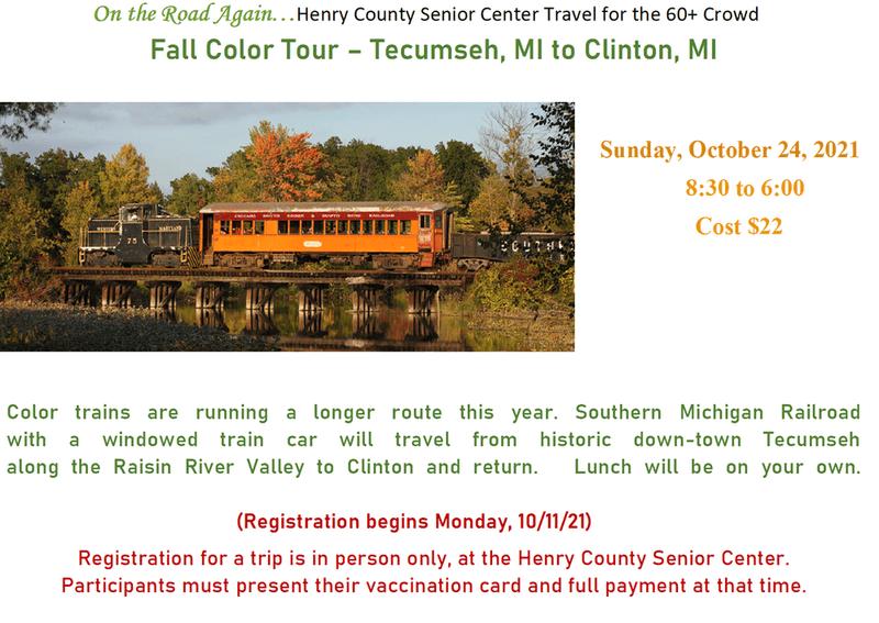 Train Trip Oct. 24 8:30-6