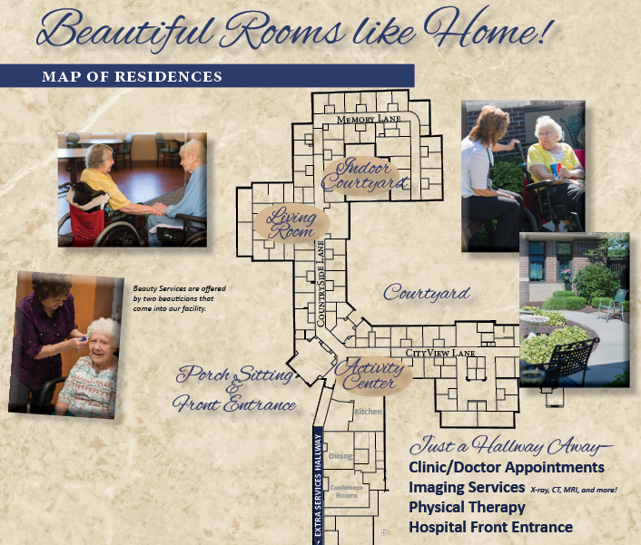 Map Layout of Long Term Care nursing home