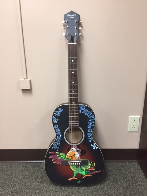 Custom Painted Guitar