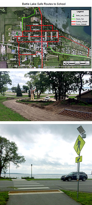 Street changes make Battle Lake safer/easier to travel, thanks to SRTS plan
