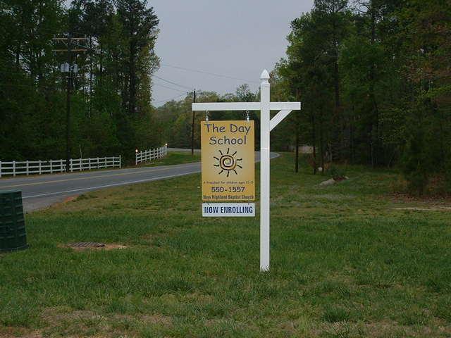 Pre-School Sign