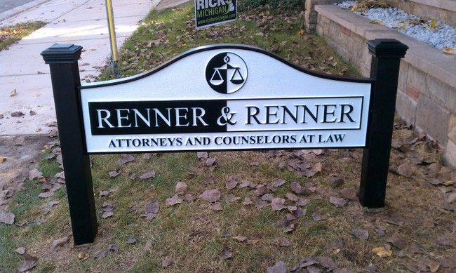 A10124 - Law Office sign Installed with Side Posts