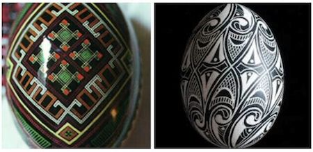 Ukrainian Pysanka tradition - possible solution to mystery symbols at Lake Junaluska