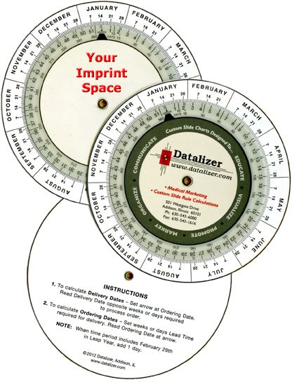 "4"" Plastic Date Calculator"