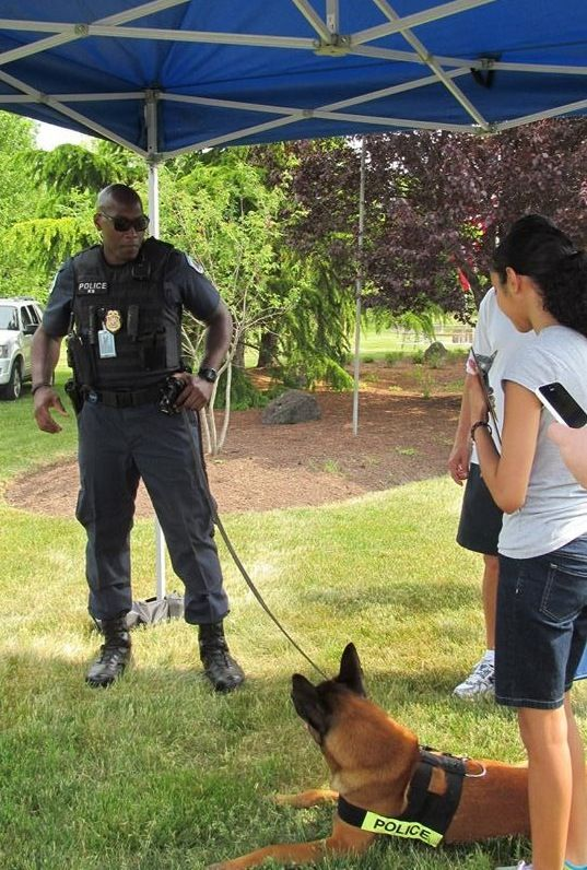 NSA Police Officer Gives K9 Demos (NSA Photo)