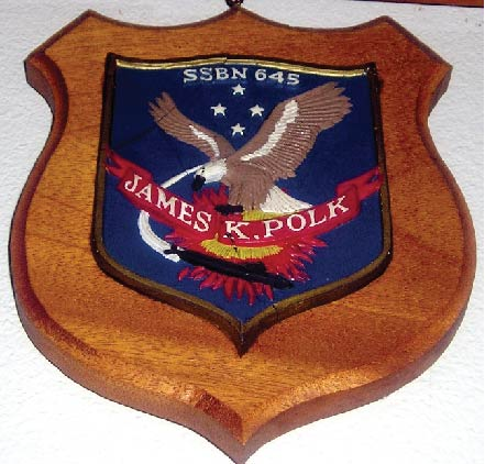 V31355 - Carved Wood Navy Ship Plaque (Submarine)