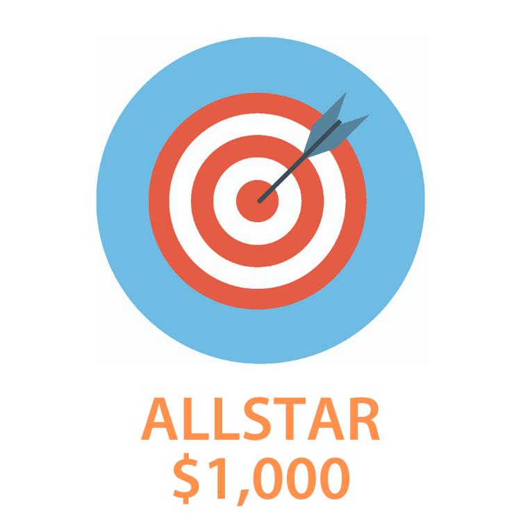 3. Allstar - $1,000