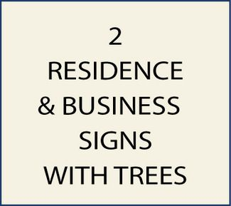2. M22050 - Residence and Business Signs with Trees and Leaves as Artwork