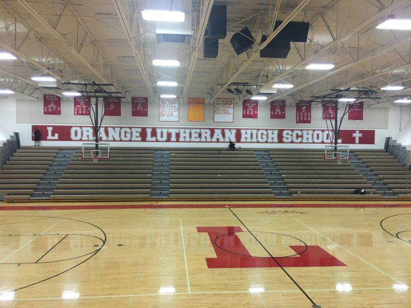 Gymnasium Wall Graphics At Orange Lutheran High School