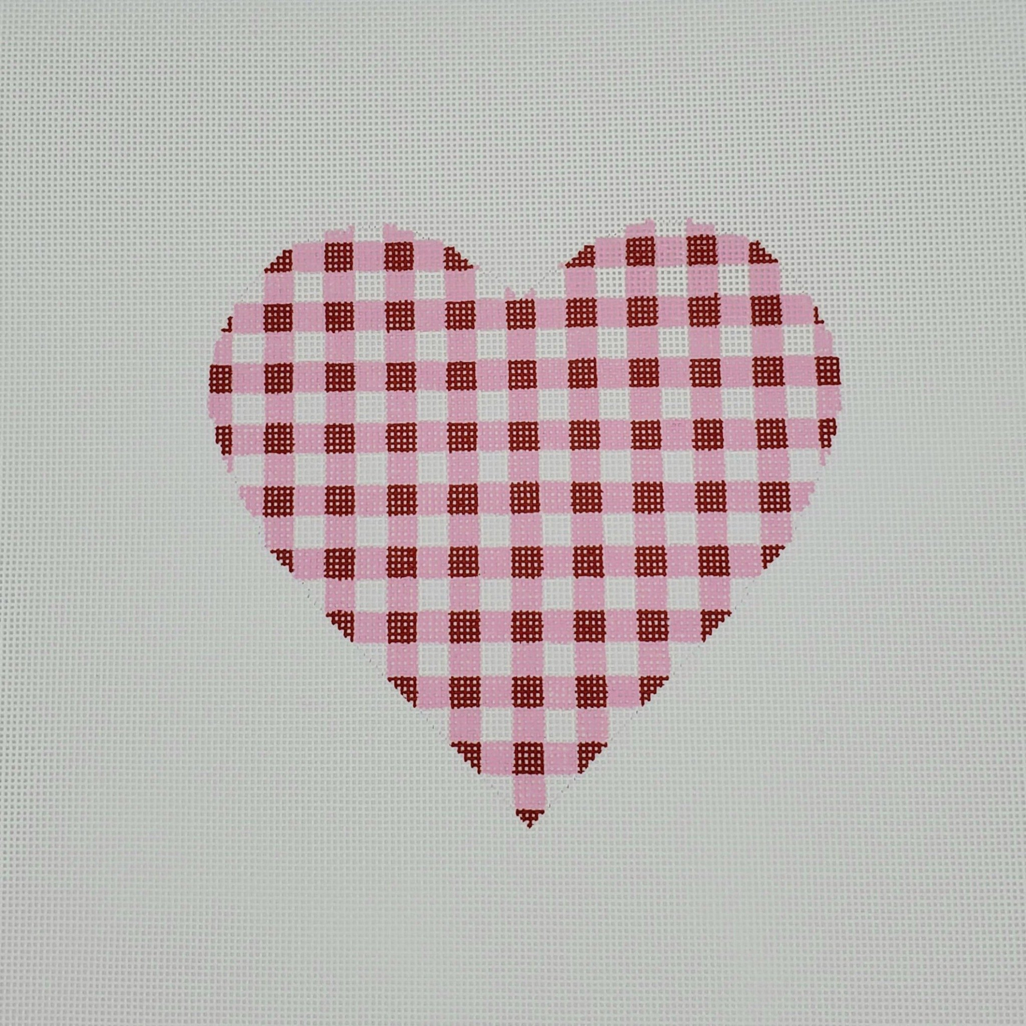 Gingham Heart Large, Red