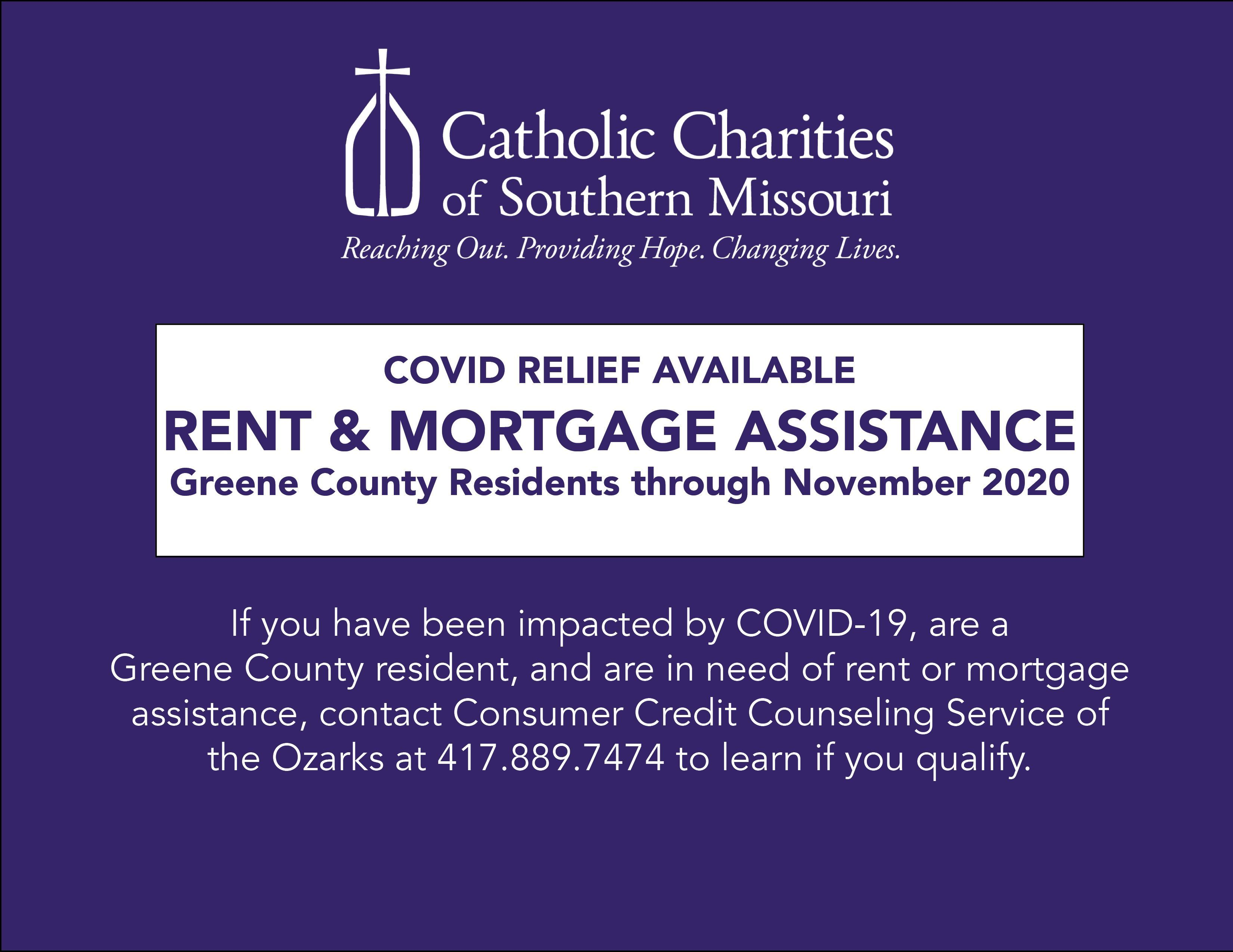 CARES Act COVID Relief Rent & Mortgage Assistance Available From Consumer Credit Counseling Service of the Ozarks for Greene County Residents