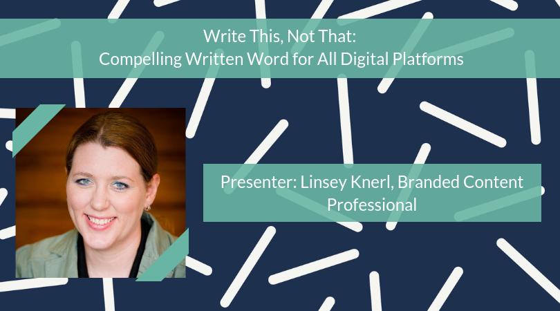 November SkillSchool | Write This, Not That: Compelling Written Word for All Digital Platforms