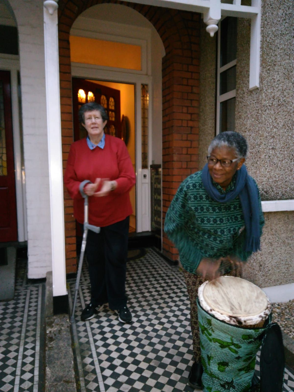 Society Leadership Team Members Rosemary Ryan (Left) and Edith Dug-yi (Right).