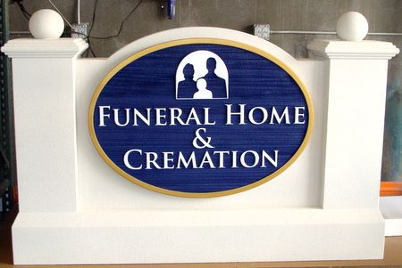 GC16107 - Dignified EPS Monument Sign for a Funeral Home and Cremation Facility