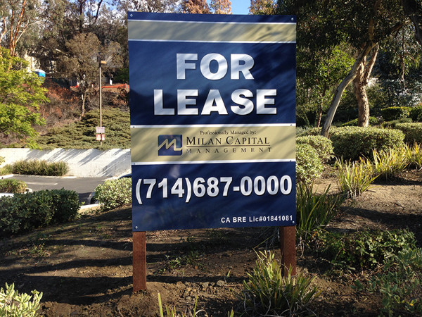 Commercial Property For Lease Signs in Orange County CA