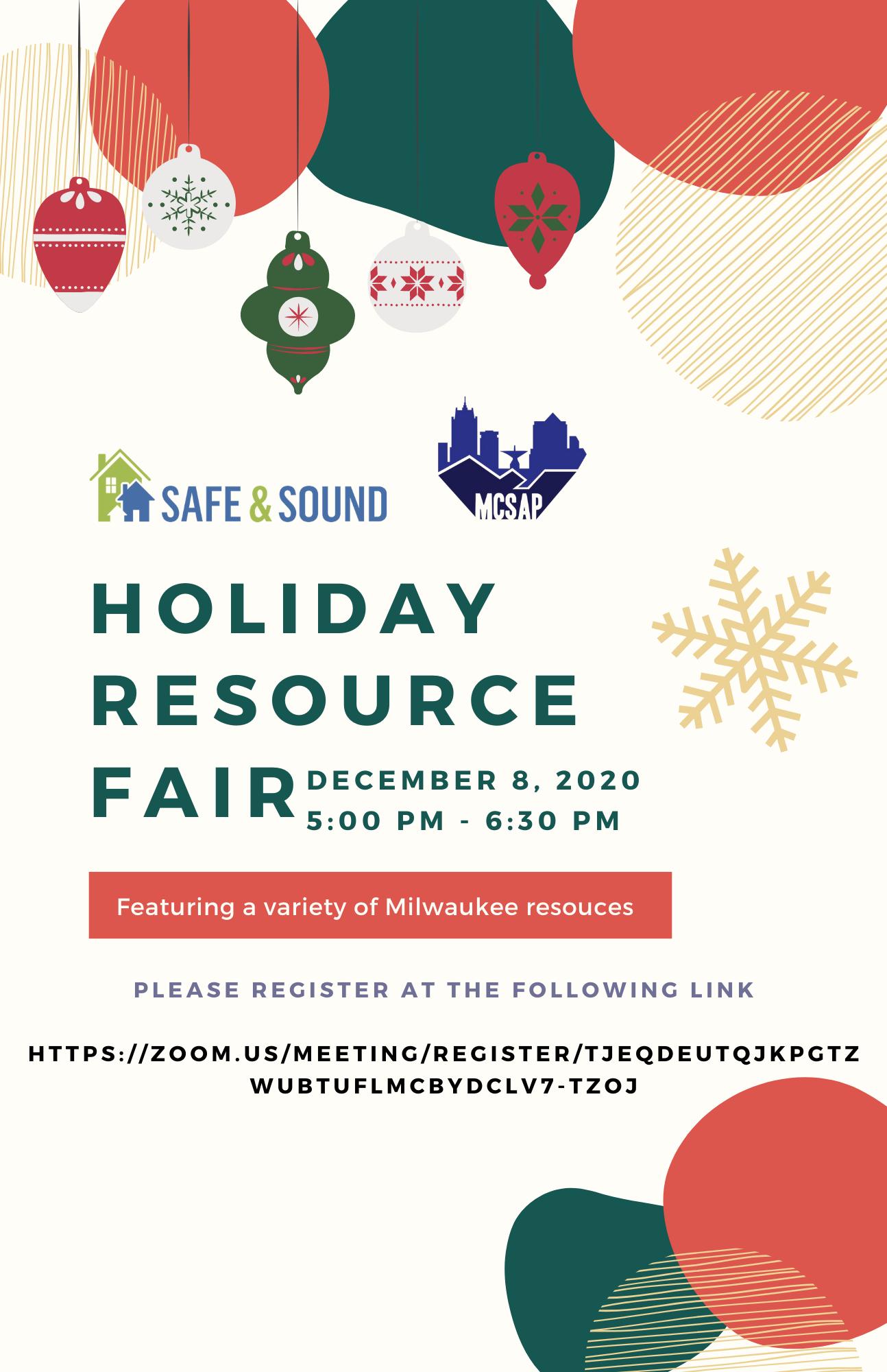 MCSAP & Safe & Sound's Holiday Resource Fair
