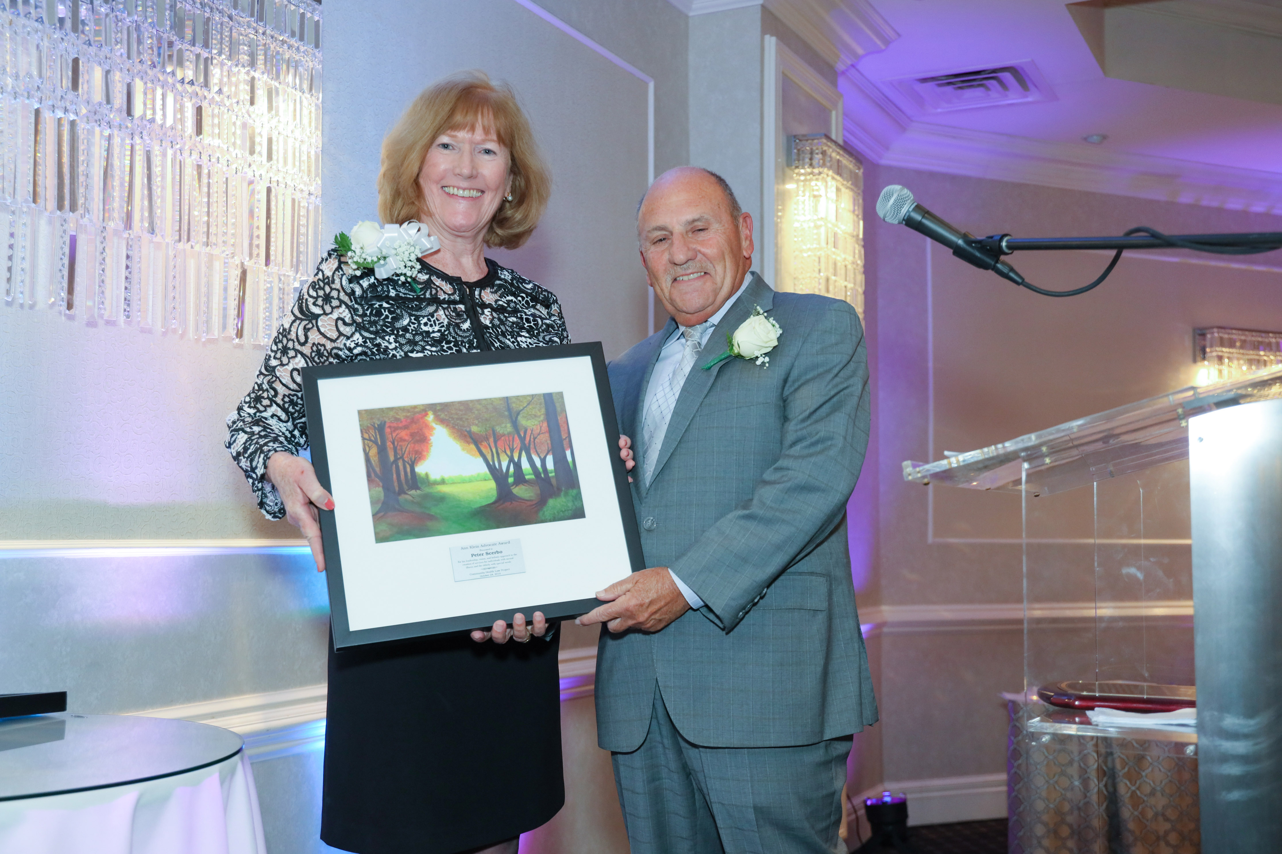 Former CBH Care Executive Director Pete Scerbo Accepts the Ann Klein Advocates Award for his 49 Years of Service to Community Mental Healthcare