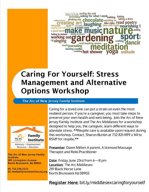 Caring For YOU! Stress Management and Alternative Options - Middlesex County