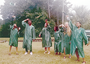 The Thomas Academy Spring Class of 2021 Graduate Cap Toss