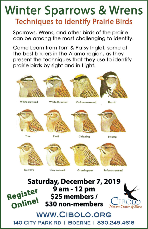 CNC: Winter Prairie Birds Workshop
