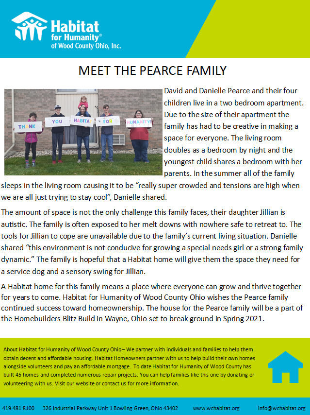 Meet the Pearce Family