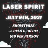 Laser Spirit Light Show, Fri. July 9th