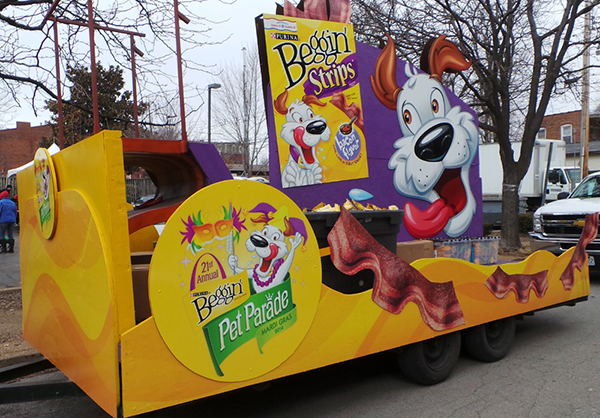 Beggin Pet Parade Float