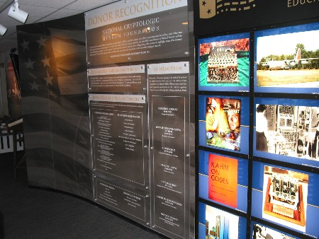 Benefactor & Patron Panel and Museum Entrance Display