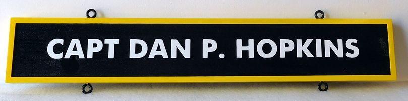 V31392E - Carved  Nameplate for a US Navy Officer, Captain.