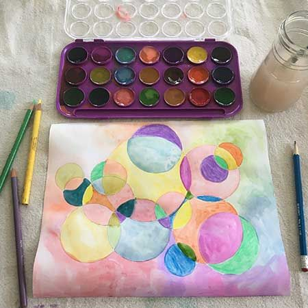 Colorful Circle Drawing & Painting